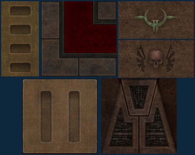 Strogg palace and sewer textures